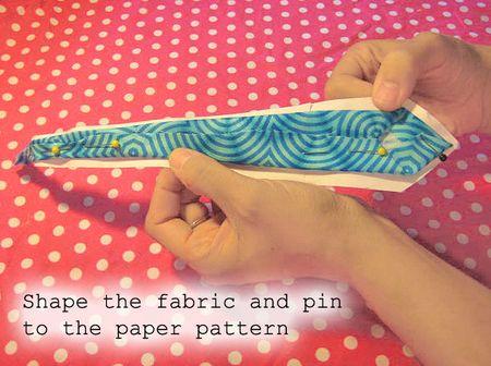 Shape lining to pattern