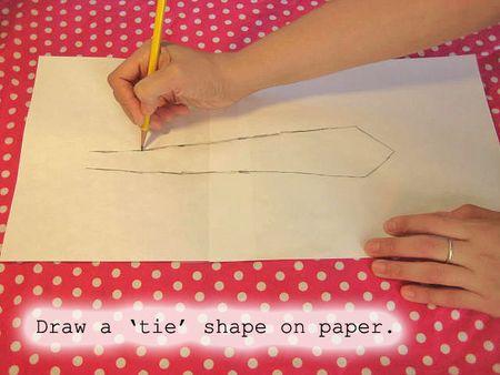 Draw a tie shape